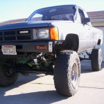 1985 Toyota 4x4 truck with 3 inch front lift 4 inch rear lift