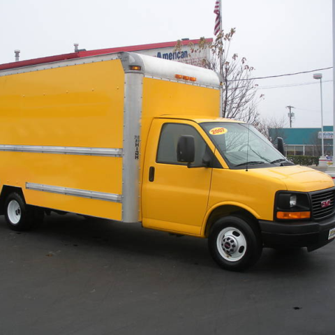 The Cube Van started life as a Penske rental truck.