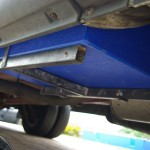 2002 Stealth Camper Van waste water tank installed