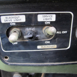 Creek's bug out vehicle with blackout switches